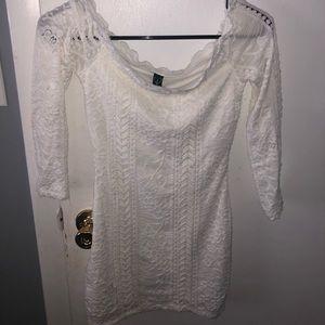 WHITE LACE TIGHT DRESS